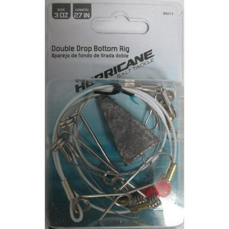 Bottom Rig (Hurricane BR27-3 Double Drop Bottom Rig (3 Ounce Sinker & 27