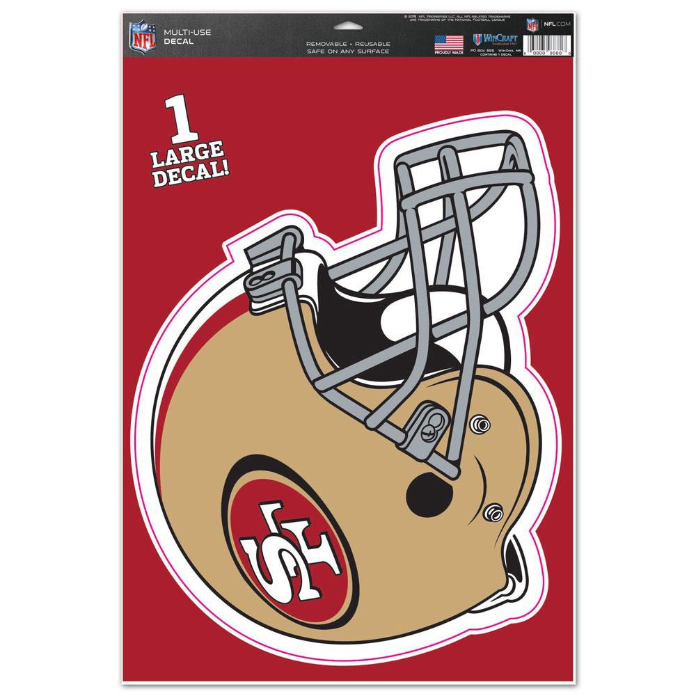 "San Francisco 49ers WinCraft Helmet 11"" x 17"" Multi-Use Decal Sheet - No Size"