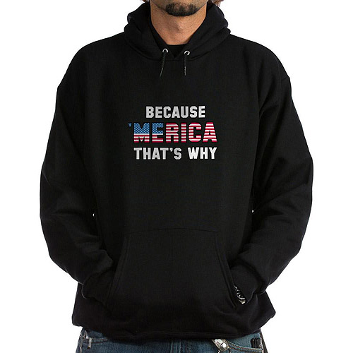 CafePress Big Men's Because 'Merica Hoodie