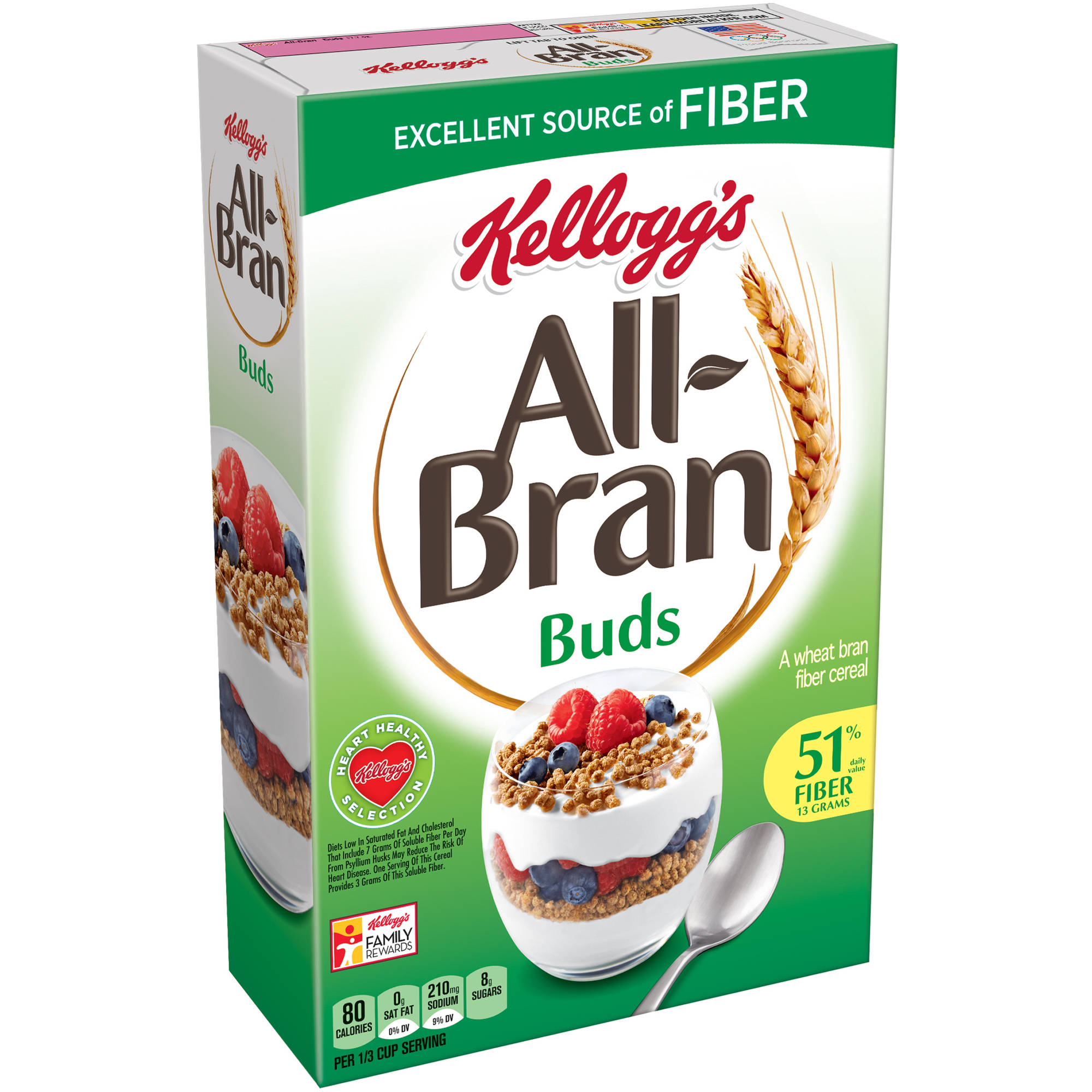 Kellogg's All-Bran Branbuds Cereal, 17.7 Ounce box
