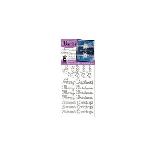Hot Off The Press DAZ-2045 Dazzles Stickers -Repeat Greetings-Silver