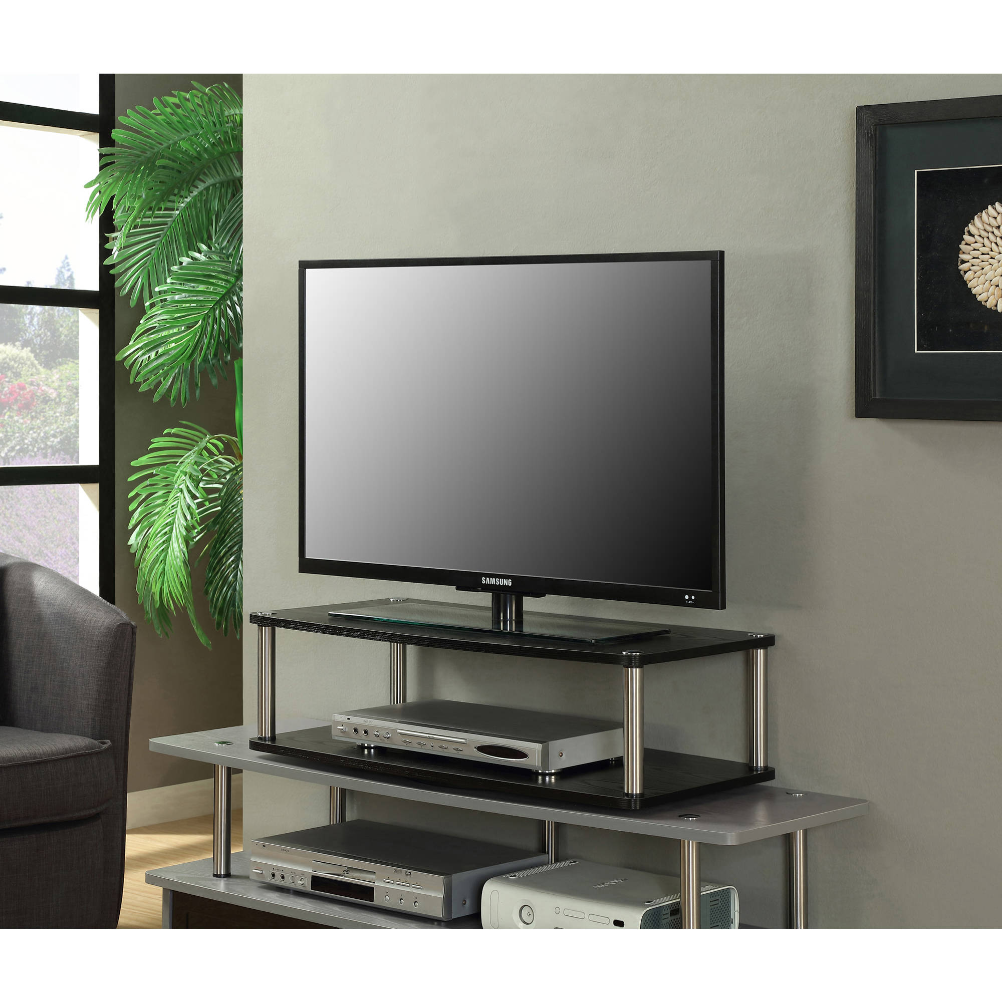 """Convenience Concepts Designs2Go No Tools XL Two Tier Swivel, for TVs up to 32"""" by Convenience Concepts"""