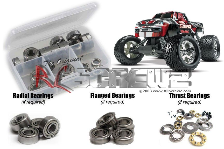 RCScrewZ Traxxas Stampede Nitro TSM Ed. Metal Shielded Bearing Kit #tra068b by RCScrewZ