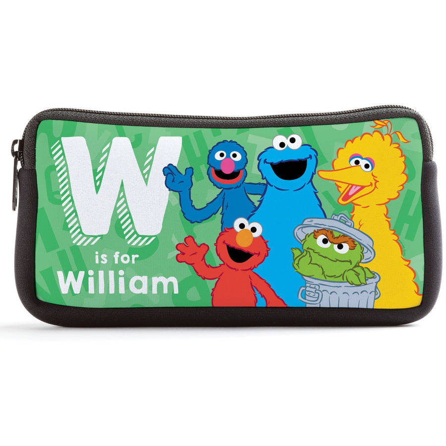 Personalized Sesame Street Initial Kids Pencil Case