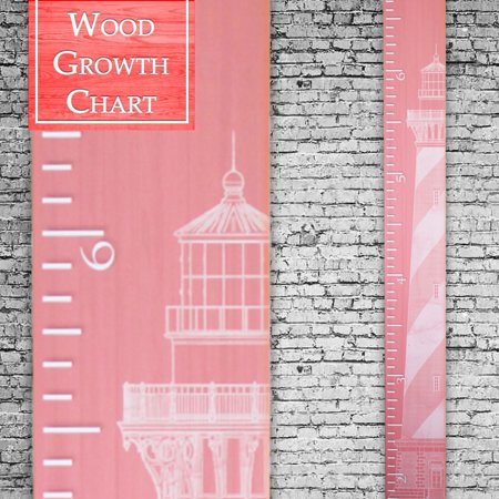 Back40Life | Premium Series - (The Lighthouse) Wooden Growth Chart Height Ruler -