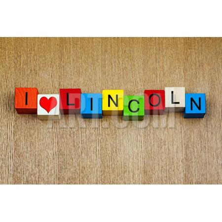 I Love Lincoln, Nebraska - America Cities and Travel Print Wall Art By EdSamuel - Party City Lincoln Nebraska
