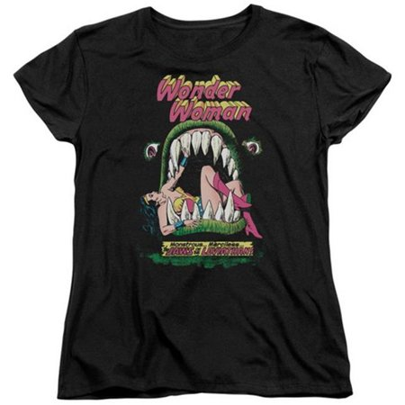 Trevco Dc-Jaws - Short Sleeve Womens Tee - Black, 2X