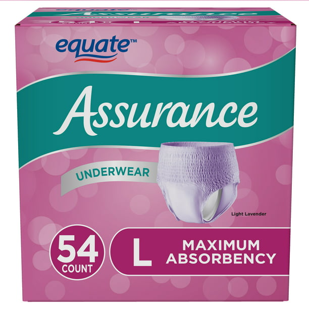 Assurance Incontinence Underwear for Women, Large, 54 Count