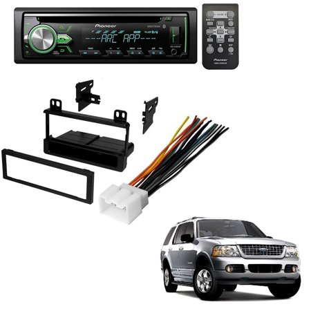 FORD 1995 - 2005 EXPLORER (ALL MODELS) CAR RADIO STEREO RADIO KIT DASH INSTALLATION MOUNTING WIRING HARNESS W/ Pioneer DEH-X4900BT Vehicle CD Digital Music Player Receivers (Ford Radio 1995)