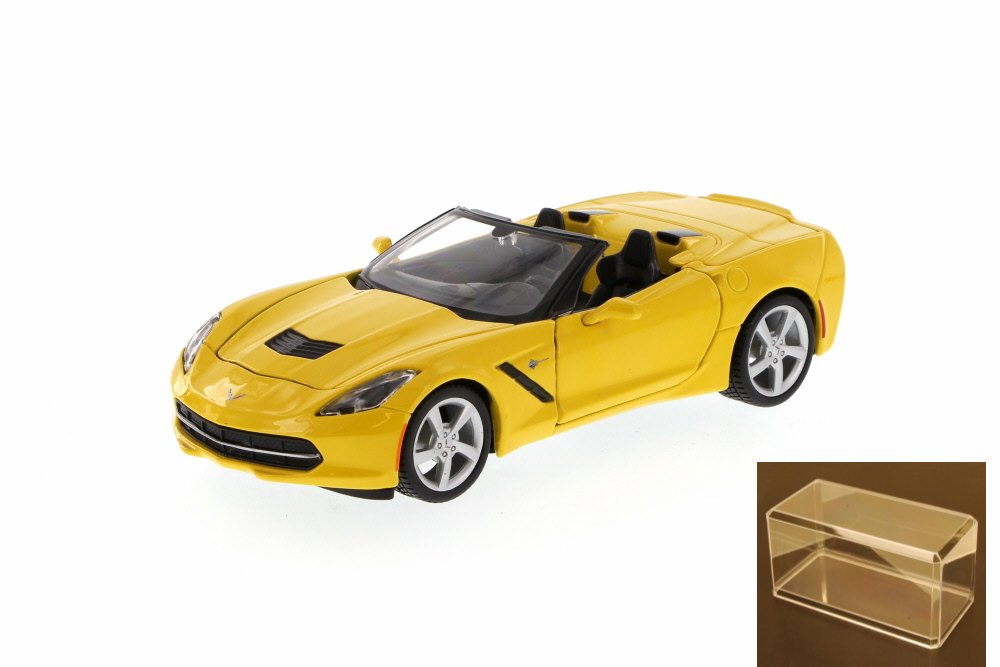 Diecast Car & Accessory Package Chevy Corvette Stingray Convertible, Yellow Maisto 34501 1... by Maisto