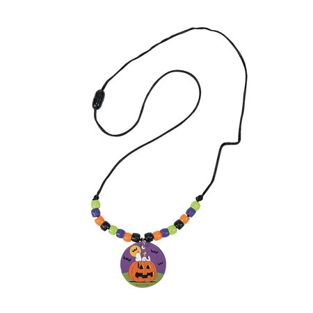 Peanuts Halloween Beaded Necklace Craft Kit By Fun - Fun Easy Cheap Halloween Crafts