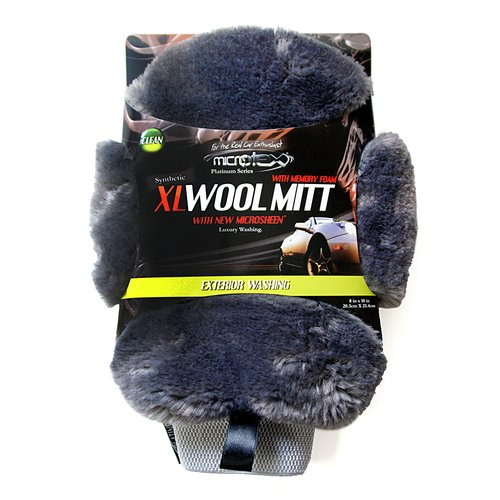 Microtex Platinum XL Memory Foam Faux Wool Mitt
