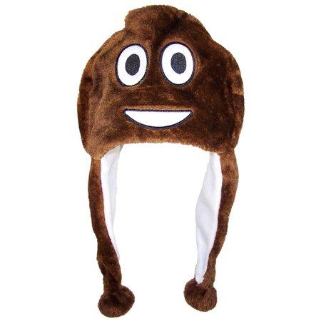 Best Winter Hats Plush Emoji Ear Flap Beanie W/Fleece Lining (One Size) -