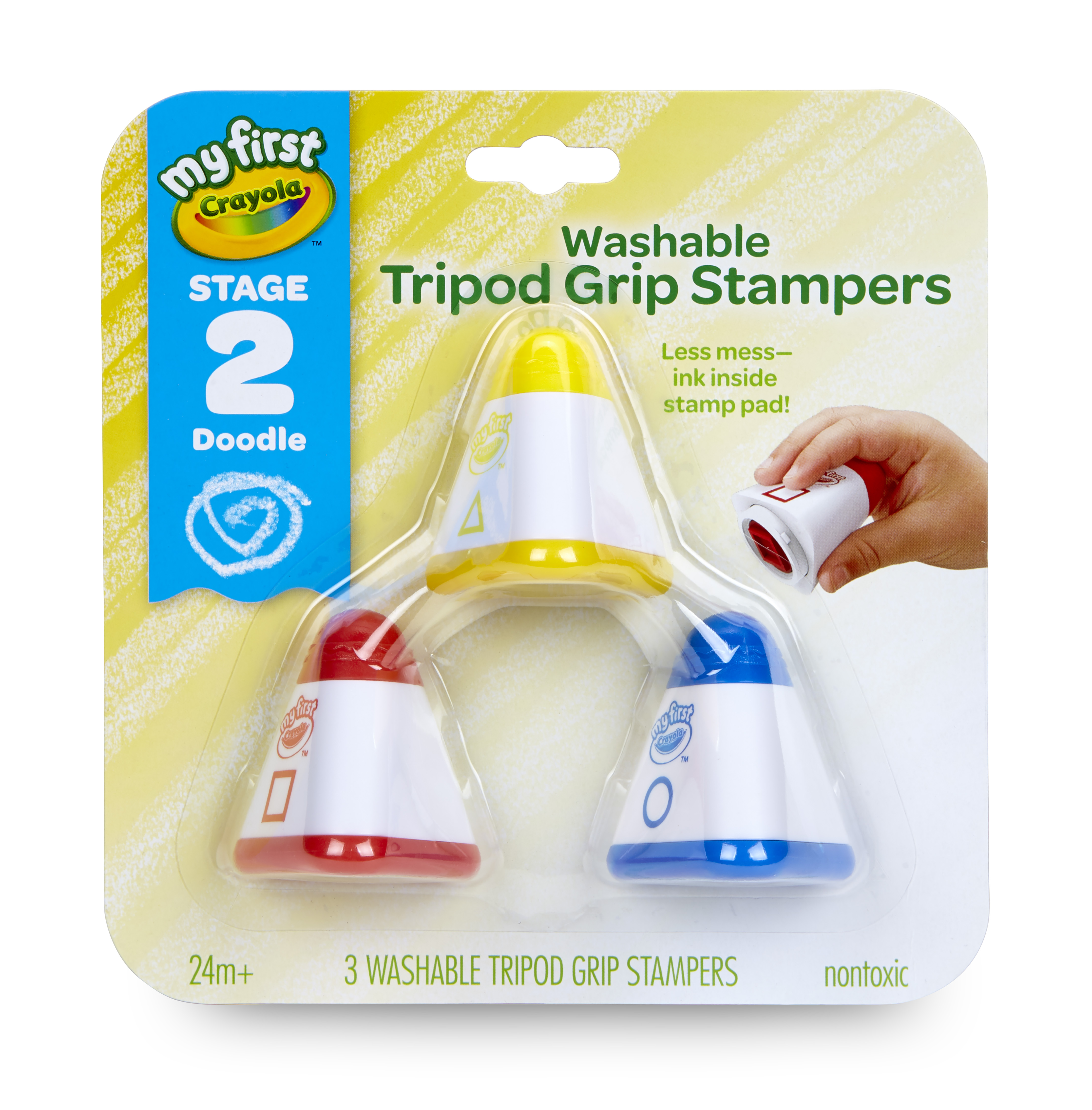 Crayola My First Washable Stamps, Toddler Art Supplies, 3 Count