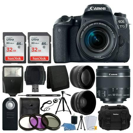 Canon EOS 77D DSLR Camera + 18-55mm IS STM Lens + Best Value (Best Old Canon Lenses)