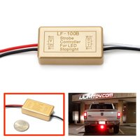 iJDMTOY (1) 12V LF-100B LED Brake Stop Light Continuously Pulsing Strobe Flash Module Controller Box For Car Motorcycle, etc