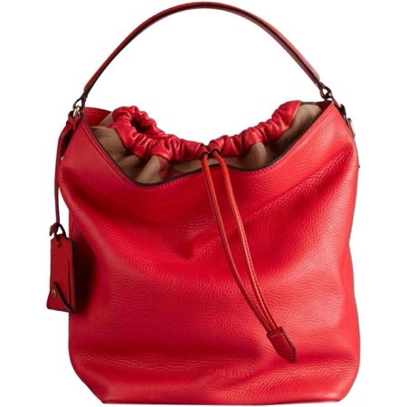 BRAND NEW WOMEN'S BURBERRY BRIT MEDIUM ASHBY HOBO RED LEATHER TOTE HAND BAG