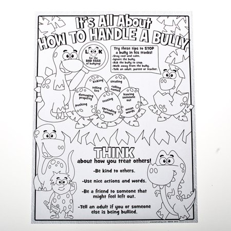 Color your own anti bullying posters