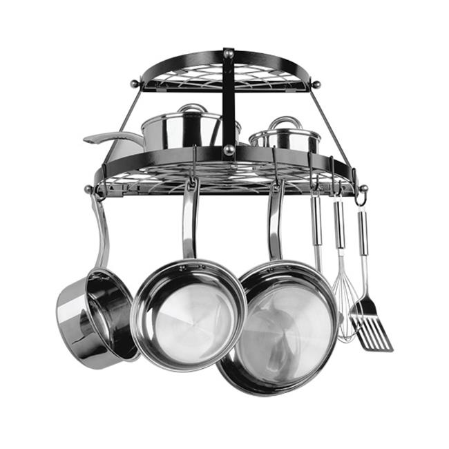 Range Kleen CW6002 Double Shelf Wall Hanging Pot Rack - B...