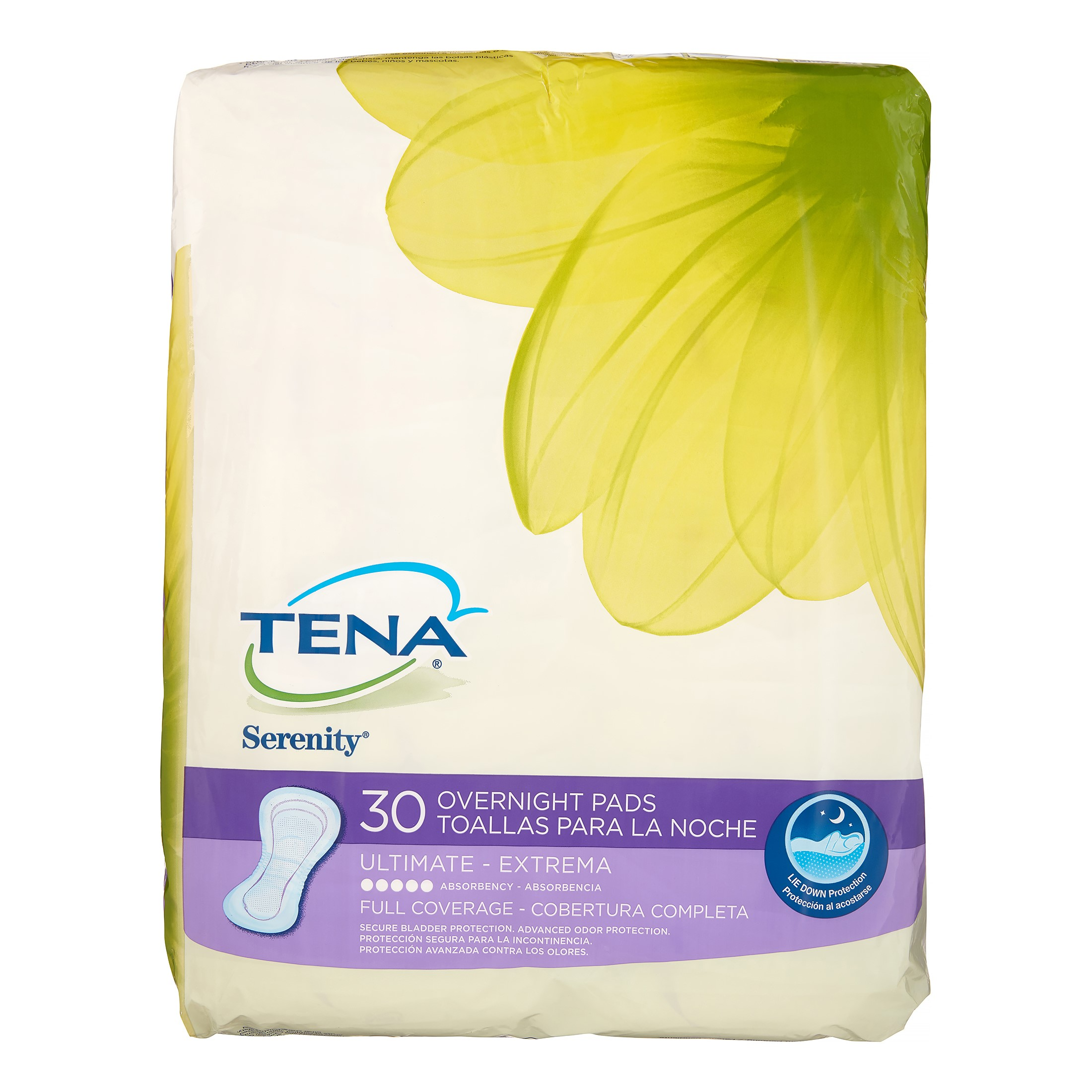 Tena Serenity Ultimate Overnight Pads 30 Ct