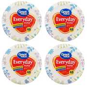 (4 Pack) Great Value Everyday Premium Paper Plates, 6