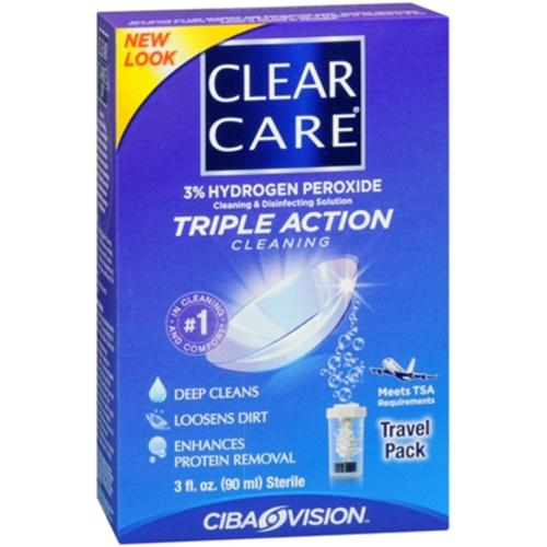 Clear Care Travel Pack 3 oz (Pack of 4)