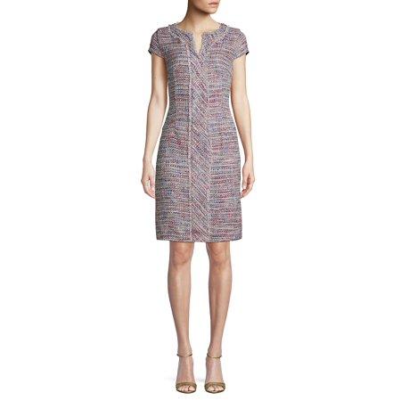 Fringe Tweed Sheath Dress (Bcbgmaxazria Dress Women)