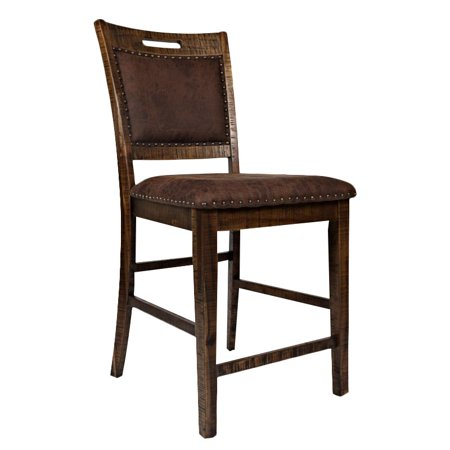 "Bowery Hill 24"" Upholstered Counter Stool in Brown (Set of 2) - image 8 of 8"