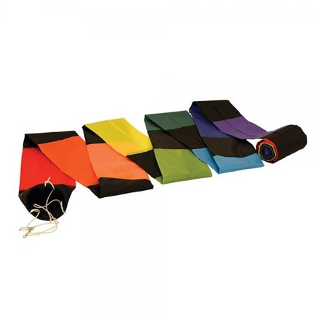 In the Breeze Black and Rainbow Kite Tube Tail, 20-Feet (Kite Tails)