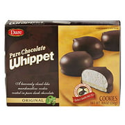 Dare Whippet Pure Chocolate Marshmallow Cookies: Your Choice of Orginal or Raspberry- Four 8.8 oz Boxes (Original)