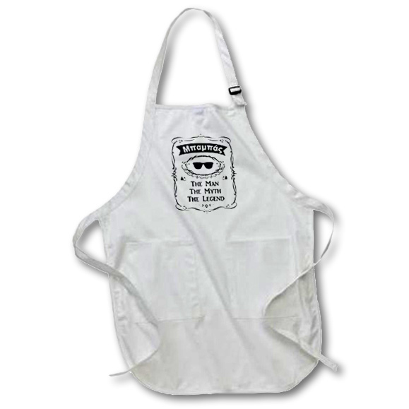 3drose Baba The Man The Myth The Legend Dad Father Greek Text Mpampas Mbambas Full Length Apron 22 By 30 Inch Black With Pockets Walmart Com Walmart Com