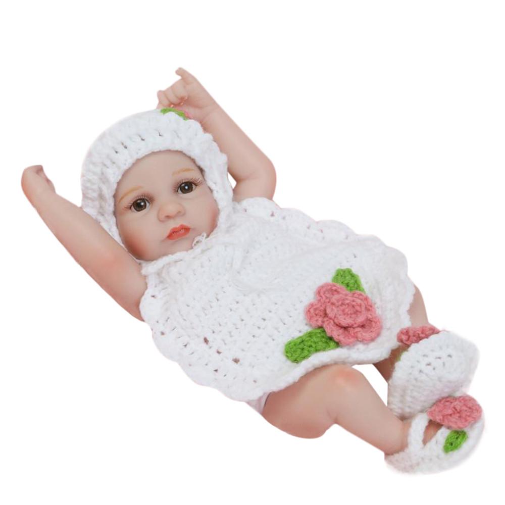 DZT1968 Lifelike Reborn Baby Doll 26cm Newborn Doll Kids Girl Playmate Birthday Gift