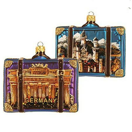 Germany Travel Suitcase Polish Glass Christmas Ornament ONE Decoration ()