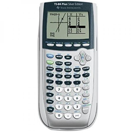 Texas Instruments Ti 84 Plus Silver Viewscreen Calculator