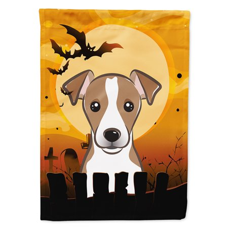 Halloween Jack Russell Terrier Garden Flag