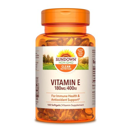 Sundown Naturals Vitamin E 400IU Softgels - 100