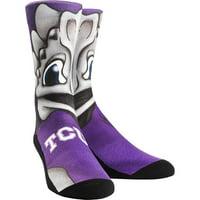 TCU Horned Frogs Rock Em Socks Women's Mascot Crew Socks