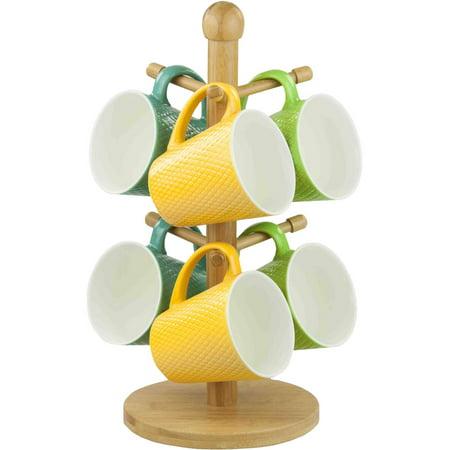 Home Basics Mug Tree, Bamboo - Bamboo Cup