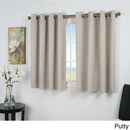 ricardo ultimate blackout 45 inch short length grommet curtain panel. Black Bedroom Furniture Sets. Home Design Ideas