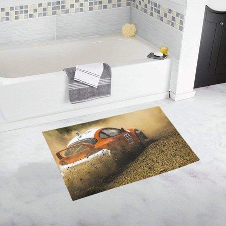 CADecor Racing In The Open Air With Dust Non-Slip Bath Mat Rug Bath Doormat Floor Rug 30x18 inches