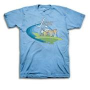 The Jetsons Men's Light Blue Flying Saucer T-Shirt-Large