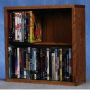 18.25 in. Dowel DVD Storage (Honey Oak)