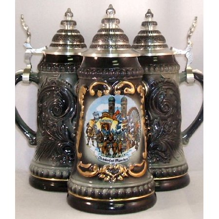 Black Oktoberfest German Beer Stein .125L Made in Germany New ONE Beer Stein Mug - Oktoberfest Sayings
