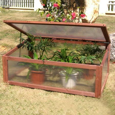 Garden Portable Wooden Green House Cold Frame Raised ...