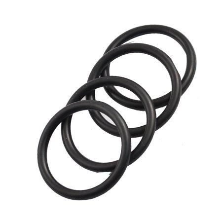 Waste Oil Boiler (Unique Bargains Boiler Black 35mm x 3.5mm Rubber Sealing Washers Oil Seal O Rings 4)