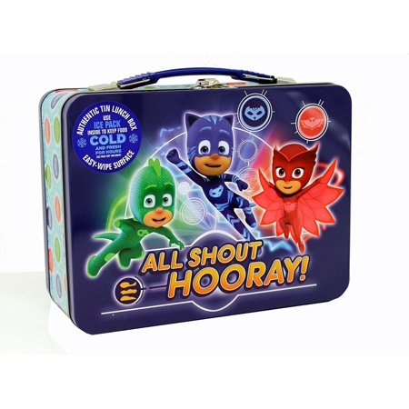 PJ Masks XL Carry All Square Tin Lunch Box - All Shout Hooray!