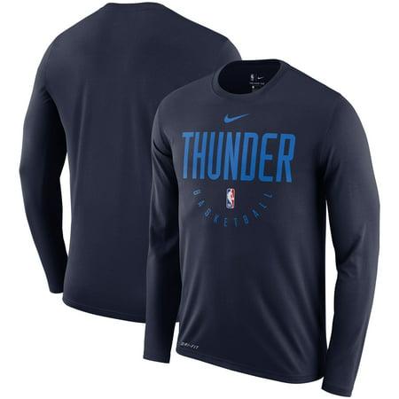 first rate e45b5 c177d Oklahoma City Thunder Nike Practice Performance Legend Long Sleeve T-Shirt  - Navy