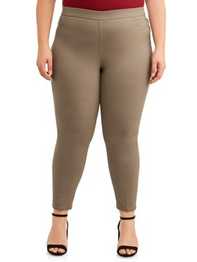 Zac & Rachel Women's Plus Size Pull on Millenium Narrow Leg Opening Pants