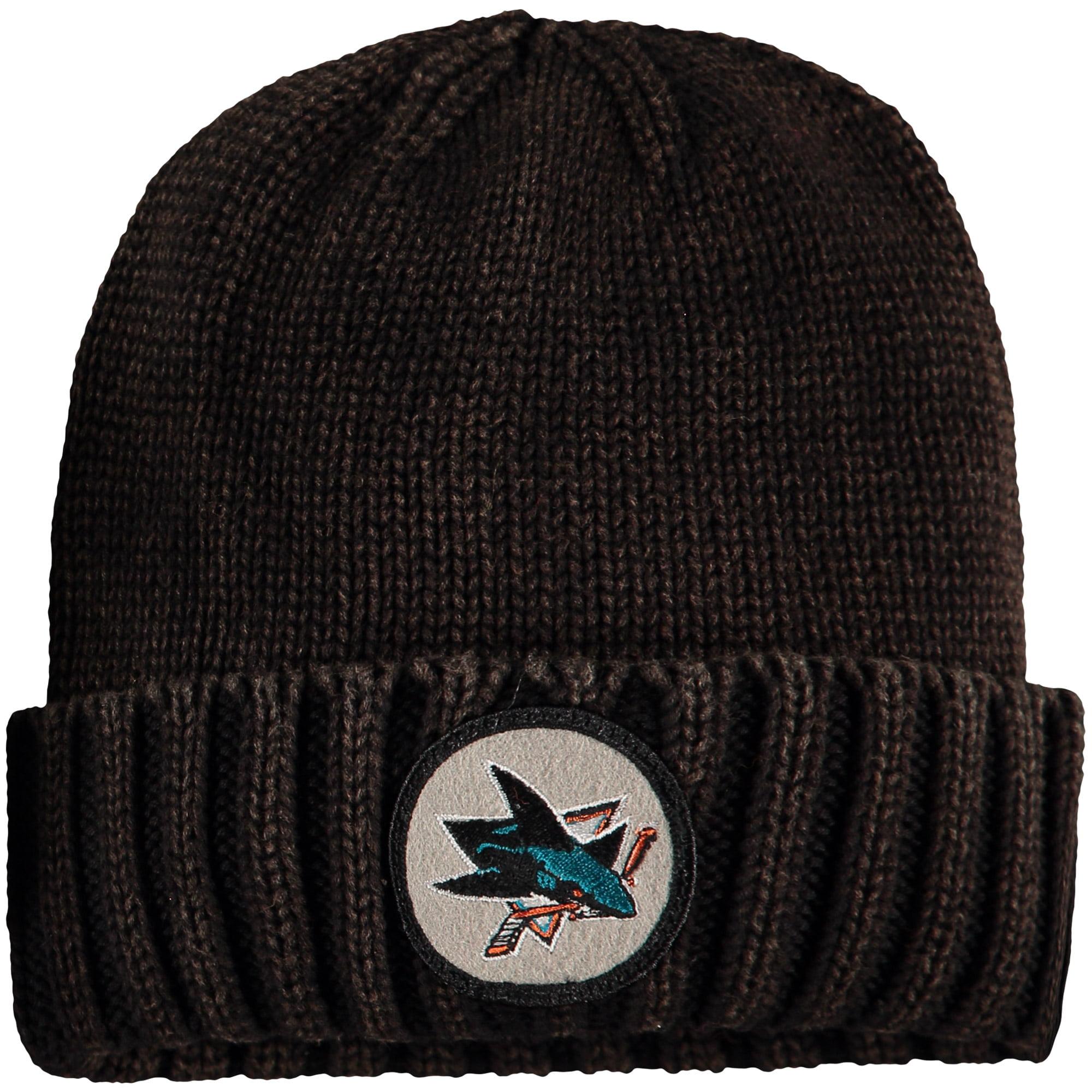 San Jose Sharks Mitchell & Ness Current Logo Ribbed Cuffed Knit Hat - Brown - OSFA