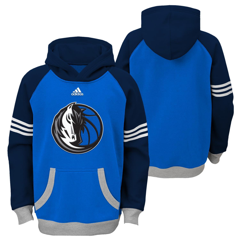 "Dallas Mavericks Youth NBA Adidas ""Robust"" Pullover Hooded Sweatshirt"